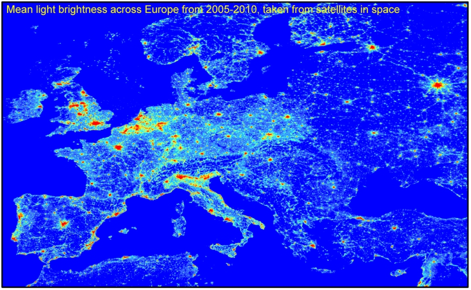 light in europe