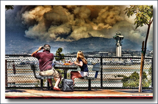 "Los Angeles County ""Station Fire"" view from LAX"