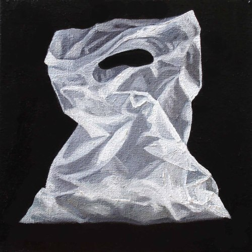 Margaret Ackland, Plastic Bag, Oil on Linen